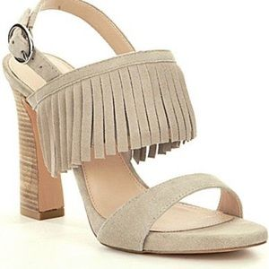 Pelle Moda Nora Suede Fringed Sandals Size 10